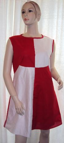 60's Mini Dress Red and White all sizes