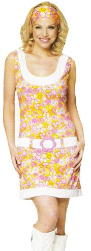 flower power gogo dress