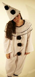 Pierrot Fancy Dress Costume