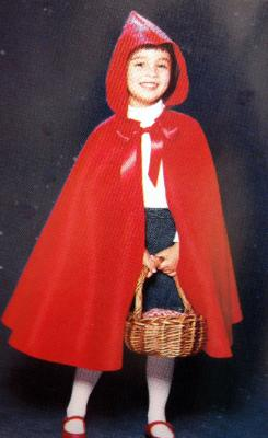 Childrens red riding hood costume